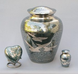 Going Home - Turquoise & Silver | H.W. Wallace Cremation & Burial Centre